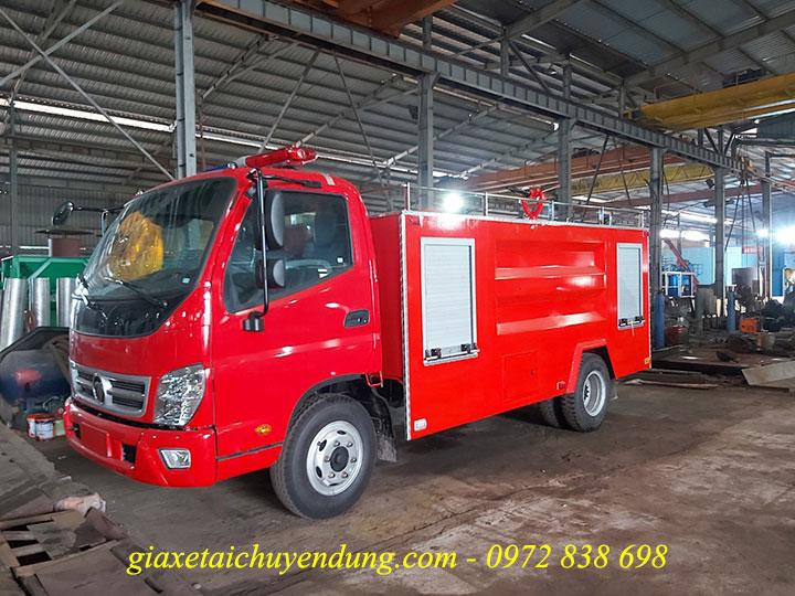 xe cứu hỏa chữa cháy 4.5 khối thaco ollin 500
