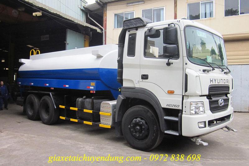 xe phun nước 13 khối hyundai hd260