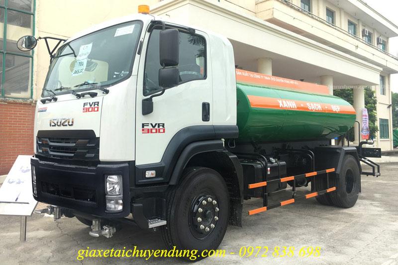 xe phun nước rửa đường 9 khối isuzu fvr34le4