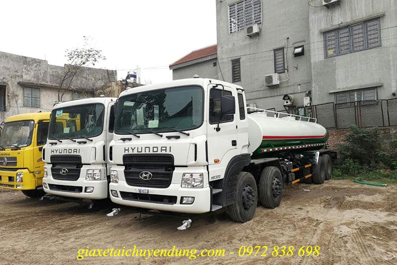 xe phun nước rửa đường hyundai hd320 17 khối (17m3)